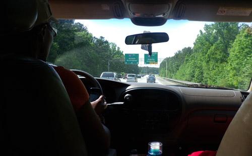 Lema Nsah driving