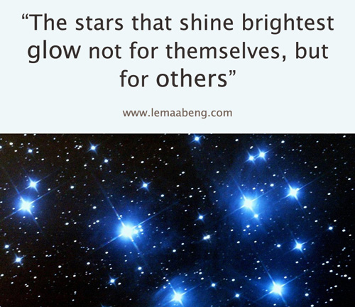 Stars that shine brightest quote