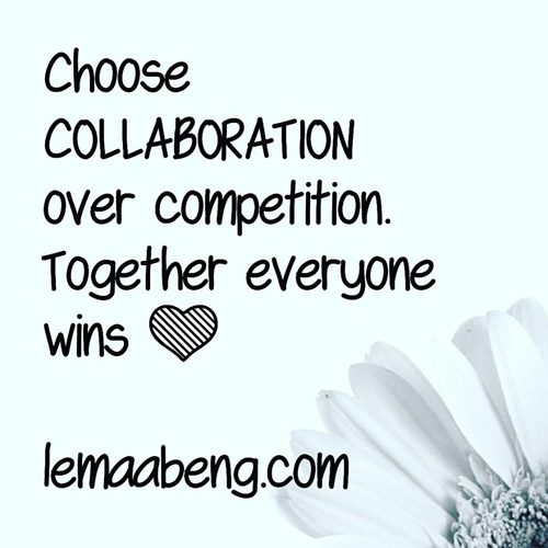 Instagram post on collaboration
