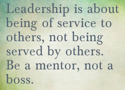 Be a mentor not a bos