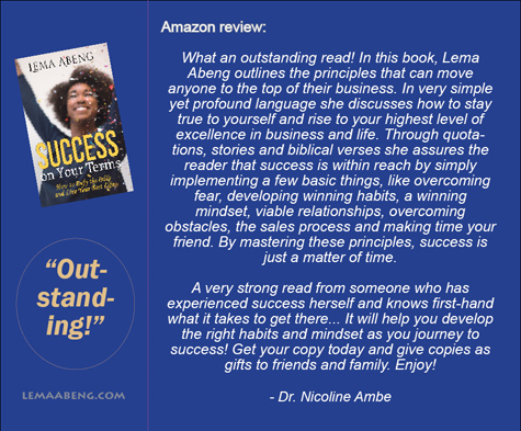 Review Success On Your Terms by Dr Ambe