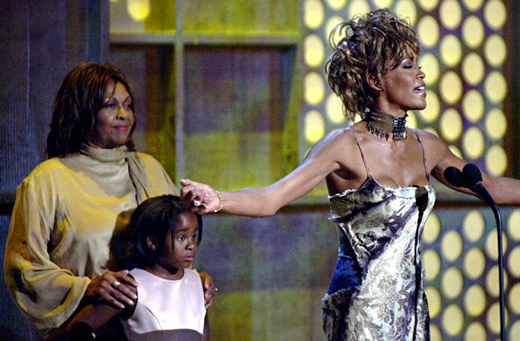 June 2001: Whitney Houston, Cissy Houston, Bobbi Kristina