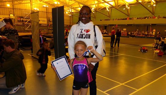 Lema and Alisa gymnastics